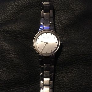 Skagen ladies watch Swarovski crystals on face